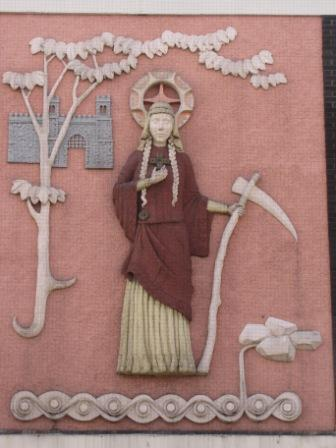 St Sidwell bas relief