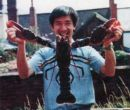 An old photo showing Mr. Pang in the backyard of The Orient