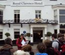 Outside the Royal Clarence