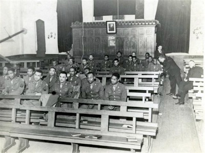 Black GIs at the Salvation Army temple in St Thomas Exeter, Christmas 1944